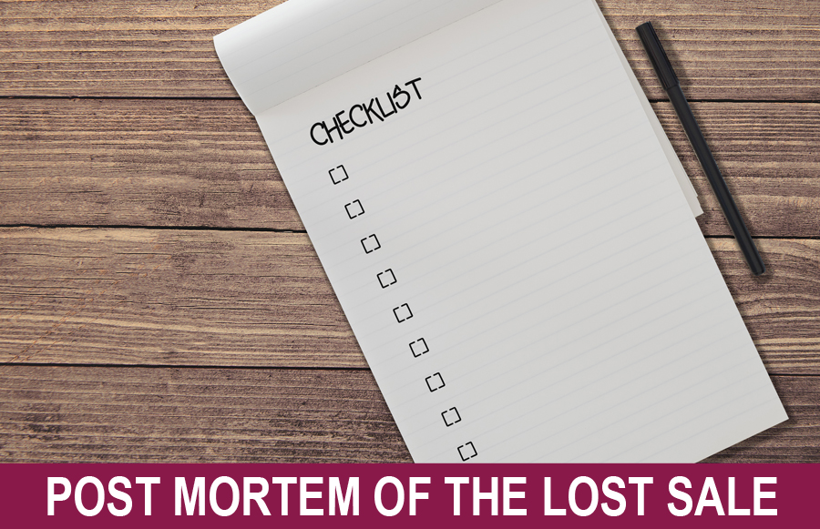 Post Mortem of the Lost Sale